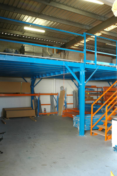 CLEAR SPAN RAISED STORAGE AREAS (MEZZANINE STRUCTURES & FLOORS)
