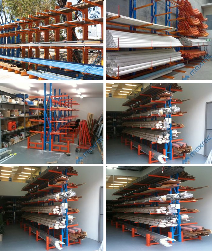 Heavy Duty Industrial Cantilever Racking For Long Spans