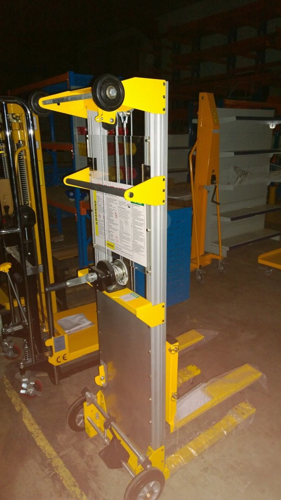 High Lift Winch Operated Lifters Pallet Jacks Trucks